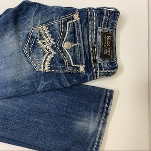 Miss Me Jeans - Miss Me Bootcut Acid Wash Bejeweled Jeans